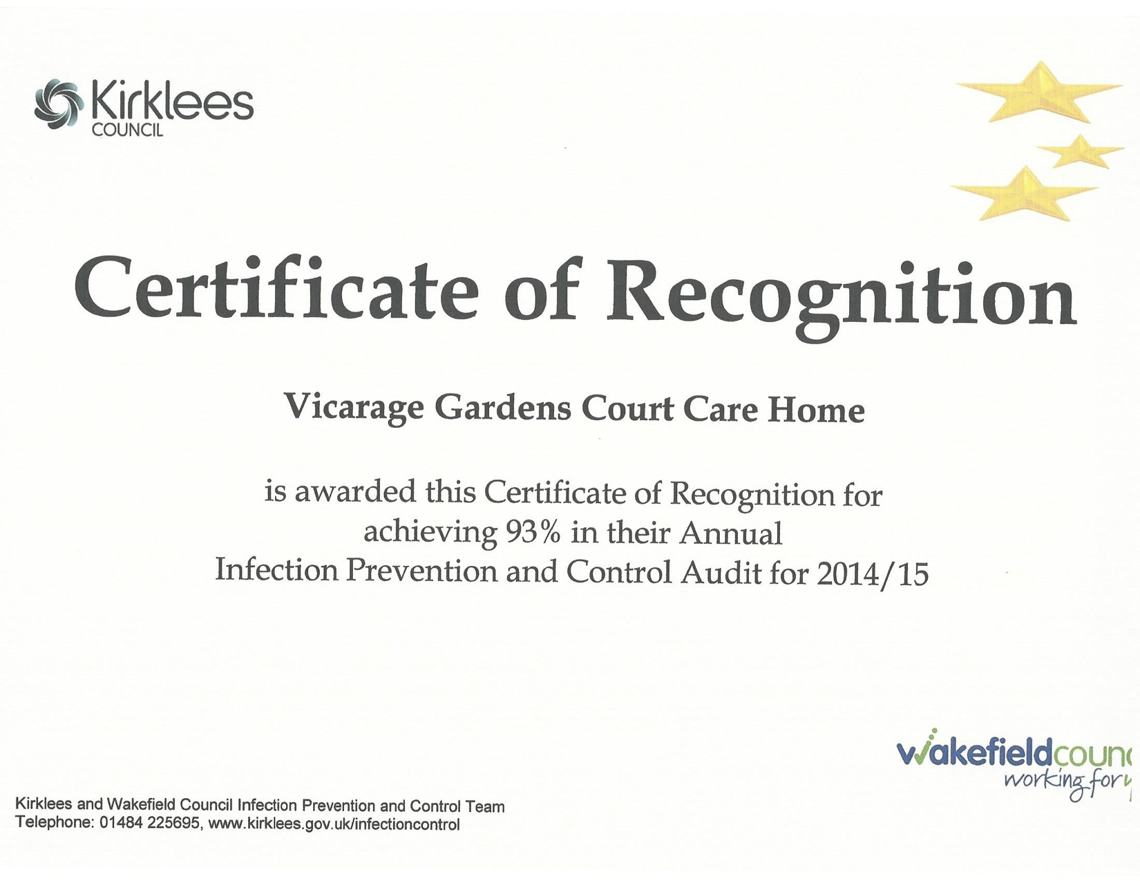 Awards | Vicarage Court Care Home`s Blog